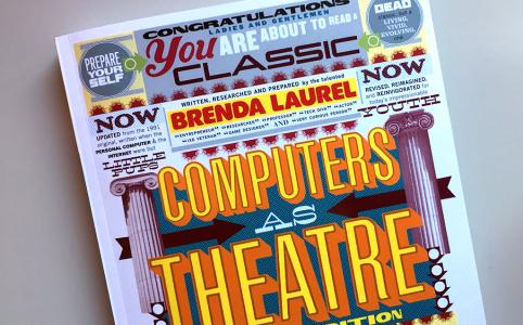 Computer as a theatre, Brenda Laurel cover II edition [Biblioteca Amnesia]